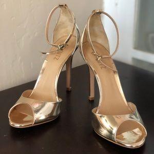 Schutz Gold Heels 👠
